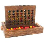 Four In A Row  - Wooden Strategy Game