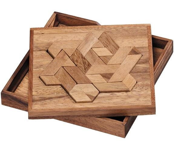 Hexiamond Wooden Brain Teaser Puzzle