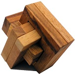 Jammed Intersection - Wooden Brain Teaser Puzzle
