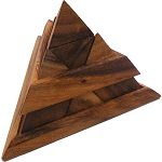Luxor Pyramid Natural - Wooden Puzzle Brain Teaser