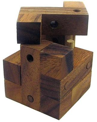 Nails Cube Wooden Puzzle Brain Teaser