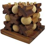 Tic Tac Toe 3D (LARGE) - Strategy Wooden Game