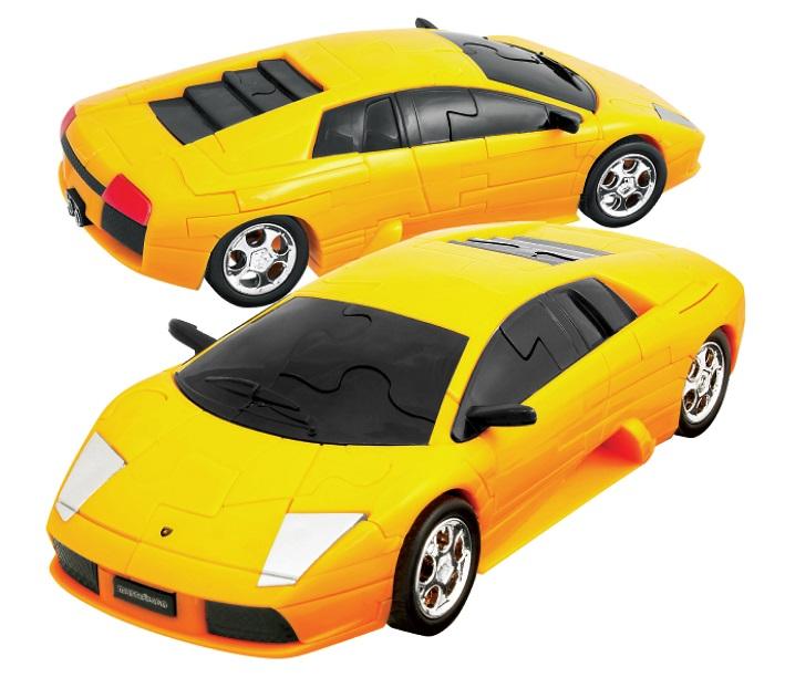 Lamborghini Murcielago Yellow 3d Jigsaw Puzzle Car Kit