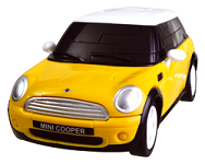 Mini Cooper - Yellow 3D Jigsaw Puzzle Car Kit