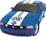 Ford Mustang FR500C- Blue 3D Jigsaw Puzzle Car Kit