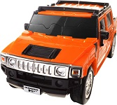 Hummer H2 - Orange 3D Jigsaw Puzzle Car Kit