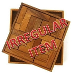Irregular - Solid Pentominoes - Wooden Brain Teaser Puzzle