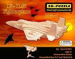 F-15 Fighterplane - 3D Jigsaw Woodcraft Kit - Wooden Puzzle