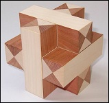 Plus-Cross - Wooden Puzzle Brain Teaser