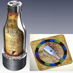 Vino Vault Wine Bottle Puzzle Brain Teaser With the Spin the Bottle Game Set