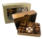 6 Wooden Puzzles Gift Set