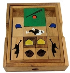 Baseball Field - Wooden Puzzle Brain Teaser