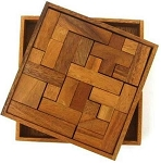 Solid Pentominoes - Wooden Brain Teaser Puzzle