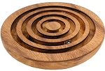 Spiral Maze - Wooden Brain Teaser Game