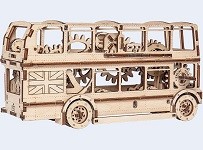 London Bus - 3D Mechanical, Engineering Self-Assembled Puzzle