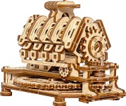 V8 Engine - 3D Mechanical, Engineering DIY Self-Assembled Puzzle