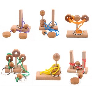 Mini Rope - 6 Wooden Puzzles Set