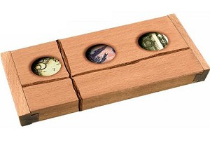 Don't Count On It Raffia Edition - Tricky Wooden Money Puzzle Box