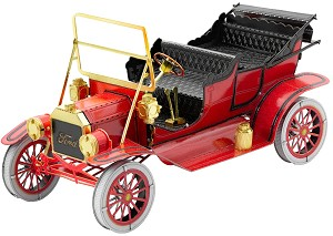 Ford 1908 Model T In Red - Metal Earth 3D Model Puzzle