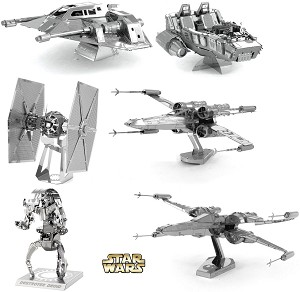 6 Star Wars Metal Earth 3D Puzzles - Group Special