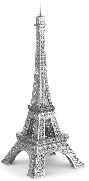 Eiffel Tower - ICONX 3D Metal Model Puzzle