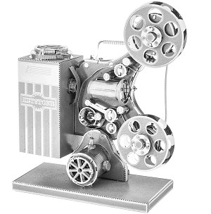 Vintage Movie Film Projector - Metal Earth 3D Model
