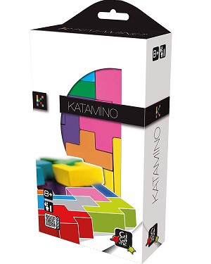 Katamino Pocket - Pentominoes Wooden puzzle and Strategy Game by Gigamic