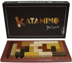 Katamino Deluxe - Pentominoes Wooden puzzle and Strategy Game by Gigamic