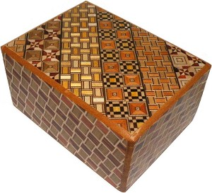 4 Sun 18 Steps Yosegi Kuzushi Mix - Japanese Puzzle Box