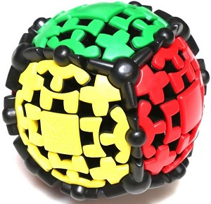 Gear Ball Black - Meffert's Rotation Brain Teaser Puzzle