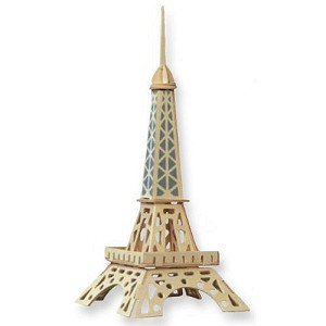 Eiffel Tower 3D Jigsaw Woodcraft Kit - Wooden Puzzle