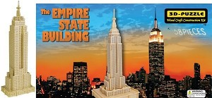 Empire State Building NY - 3D Jigsaw Woodcraft Kit Wooden Puzzle