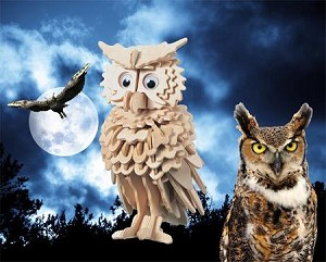 Owl - 3D Jigsaw Woodcraft Kit Wooden Puzzle