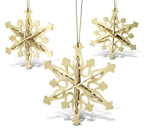 Snowflake Ornaments 3 in 1 - 3D Jigsaw Woodcraft Kit Wooden Puzzle