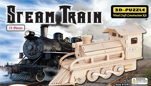 Steam Train - 3D Jigsaw Woodcraft Kit Wooden Puzzle