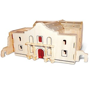 The Alamo- 3D Jigsaw Woodcraft Kit Wooden Puzzle