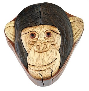 Monkey - Secret Wooden Puzzle Box
