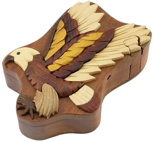 Flying Eagle Secret Wooden Puzzle Box