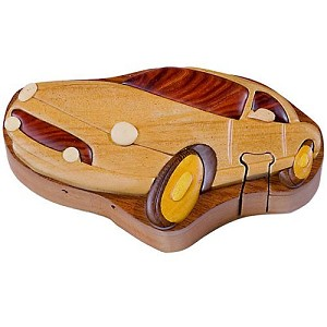Car - Secret Wooden Puzzle Box
