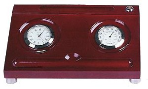 New Desk Organizer With Clock And Thermometer