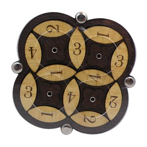 Spinning Wheels - Wooden Brain Teaser Puzzle