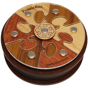 Spiele Puzzle Box 03 - Wooden Secret Box Brainteaser Puzzle