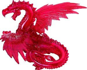 3d Deluxe Crystal Puzzle Red Dragon
