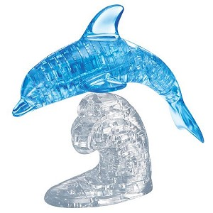 3d Deluxe Crystal Puzzle Blue Dolphin