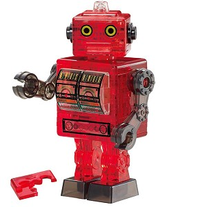 3d Crystal Puzzle Tin Robot Red