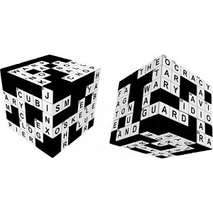 V-Cube Crossword 3x3 - Flat Cube Twisty Puzzle