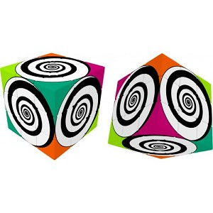 V-Cube 3 Flat - Funky Spirals 3x3 Cube Twisty Puzzle