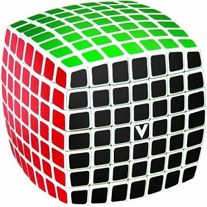 V-Cube 7 White Pillowed Multicolor Cube Puzzle