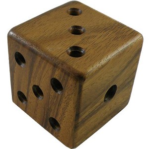 Magic Dice Cube - Wooden Brain Teaser Puzzle