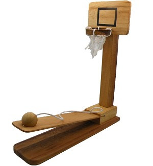 Basketball Splash Fun Wooden Game